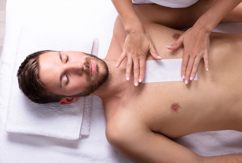 Fully body waxing for men