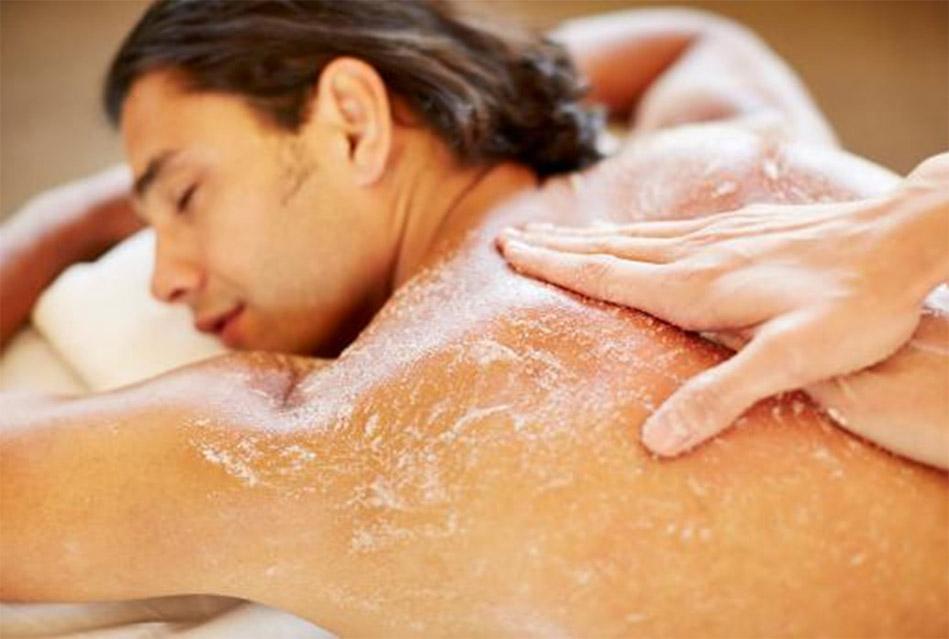 Full body scrub for men